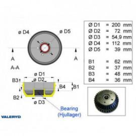 Brakestore Tambour de frein AL-KO 2051- 5 trous - 1500kg