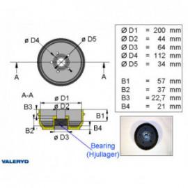 Brakestore Tambour de frein BPW S2005-5- 5 trous