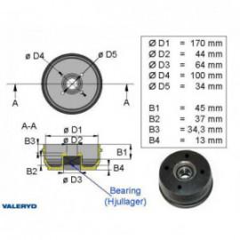 Brakestore Tambour de frein BPW - 4 trous