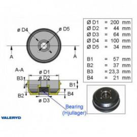 Brakestore Tambour de frein BPW S2005-5 - 4 trous