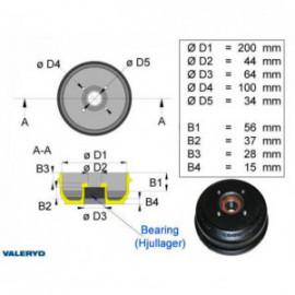 Brakestore Tambour de frein Knott/Nieper S2005-7 - 4 trous